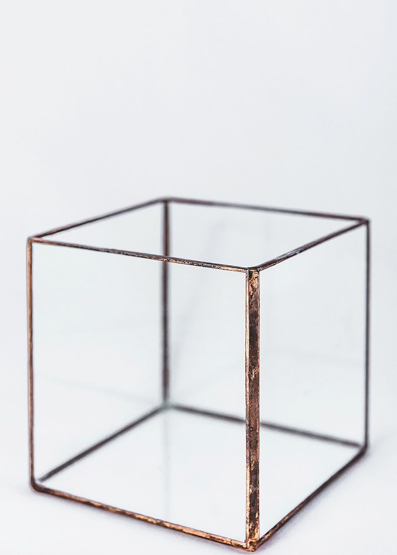 Copper & Glass Cube