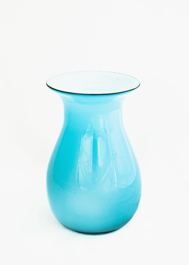 Teal Flare Vase