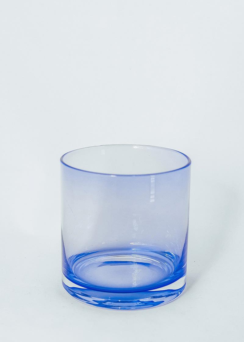 Blue Cylinder Vase, 10cm X 10cm