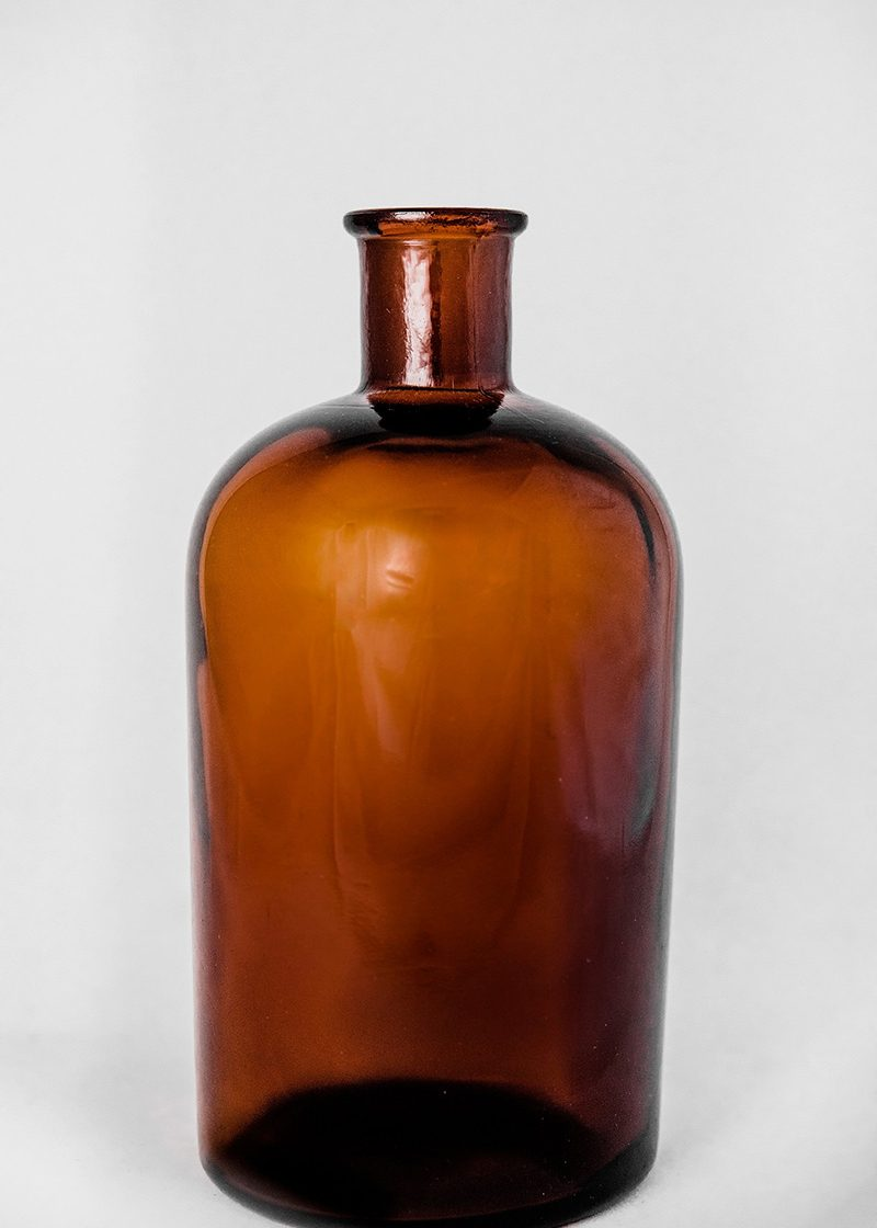 Selection Of Brown Lab Bottles
