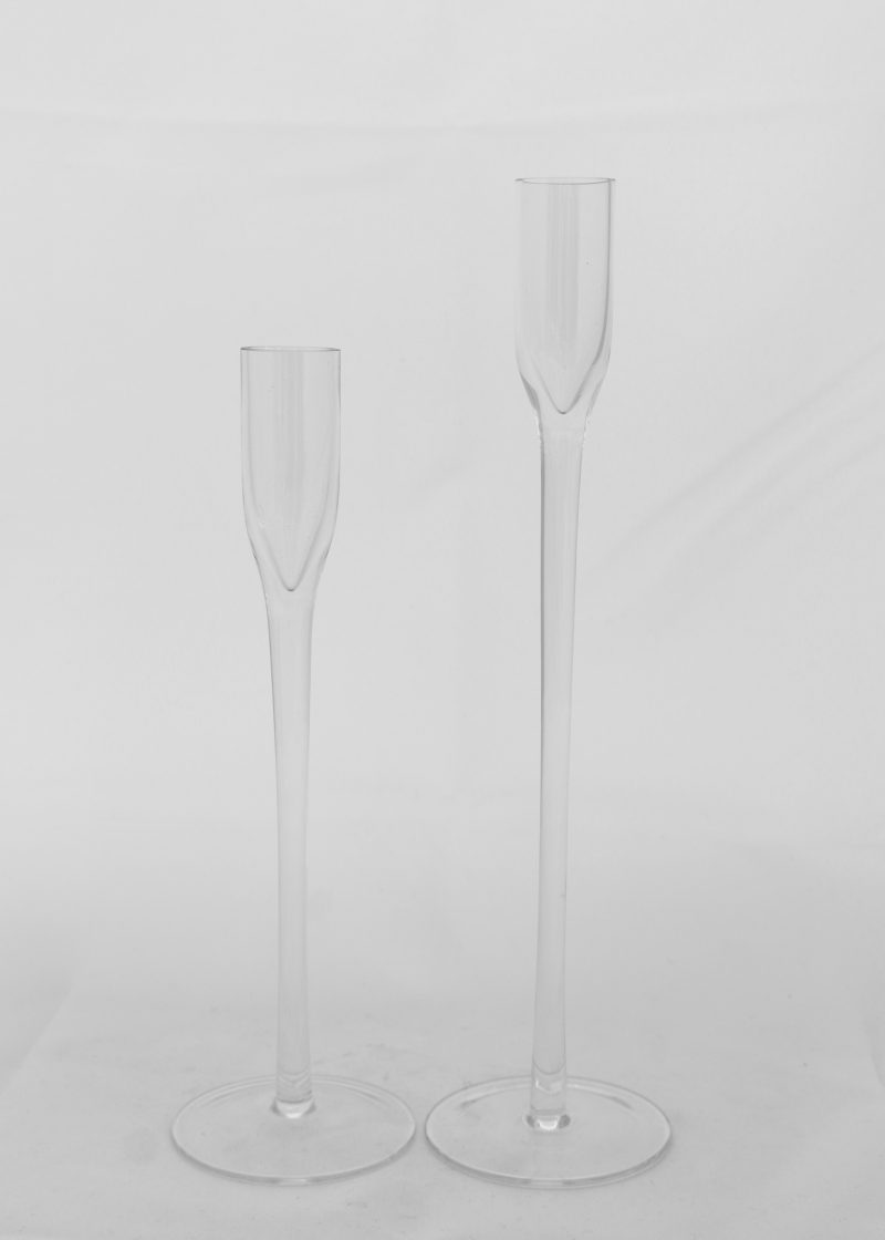 25cm Modern Glass Candle Stick