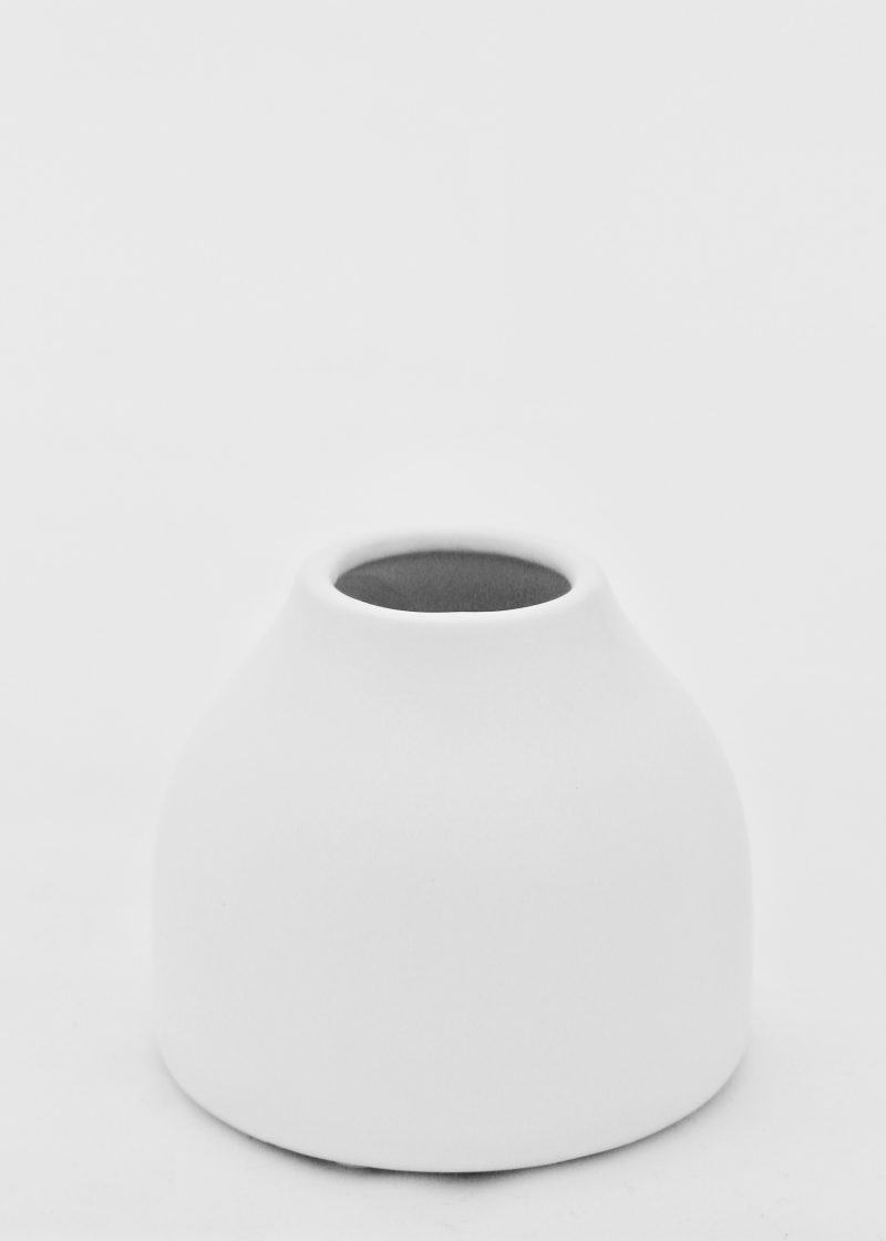 White Ceramic Belly Vase