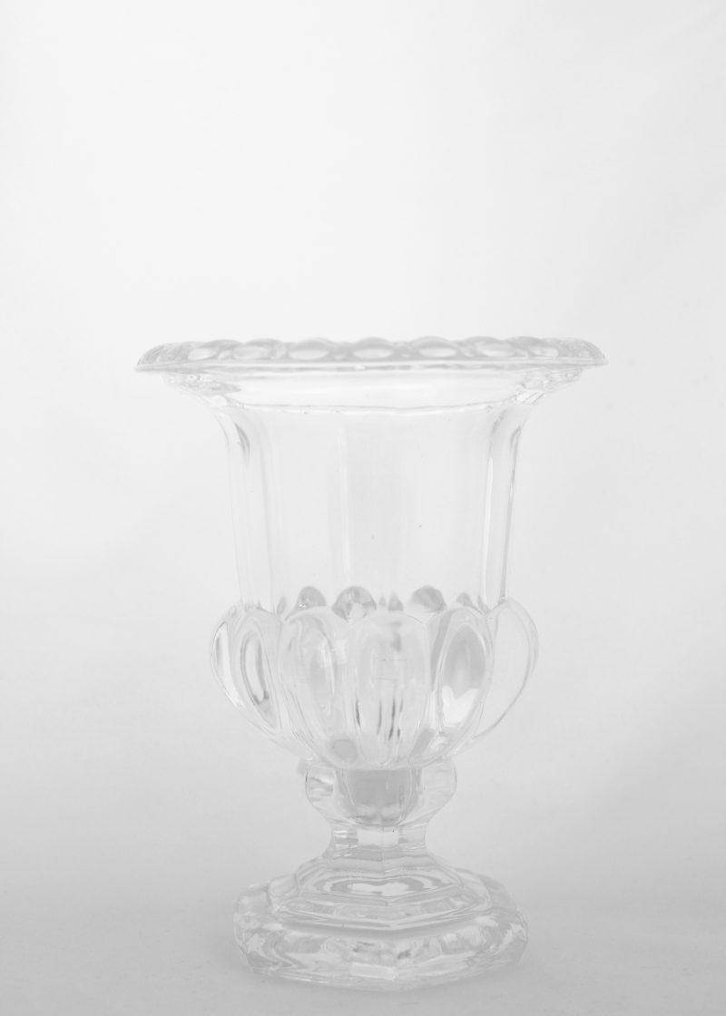 Pressed Glass Vase